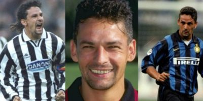 Roberto Baggio ostenta el registro de haber jugado por Juventus, AC Milán e Inter de Milán, todos grandes enemigos entre sí Foto:Getty Images
