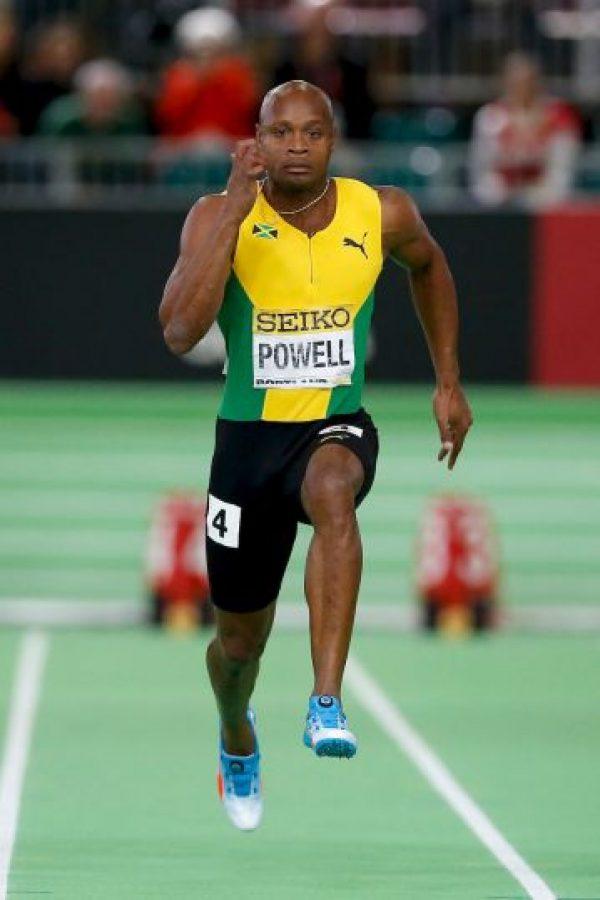 Asafa Powell. En 2014 le detectaron anfetaminas y fue suspendido medio año Foto:Getty Images