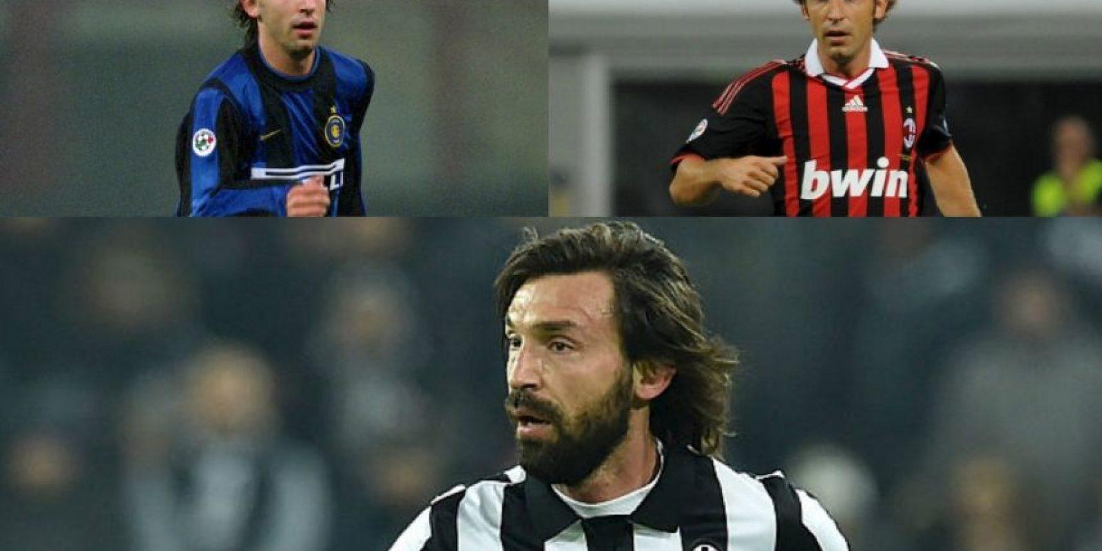Andrea Pirlo se suma a los ejemplos de los jugadores que puede decir que vistió la camiseta de los tres grandes equipos de Italia Foto:Getty Images