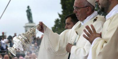 Tras el incidente la misa transcurrió con normalidad Foto:AFP