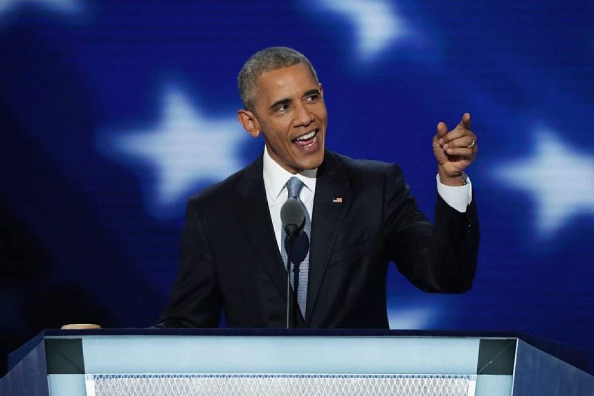 Obama no desaprovechó la oportunidad para hablar contra Donald Trump Foto: Getty Images
