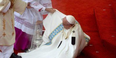 Preocupante caída del papa Francisco