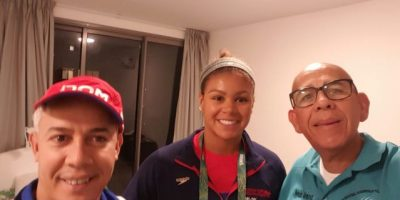 Dorian McMenemy, primera atleta de RD en llegar a la Villa Olímpica