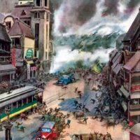 Esto fue en otro tsunami de 1947. Foto:vía Wikipedia