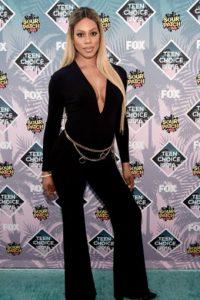 Laverne Cox en un jumpsuit setentero que no cae en literalidades. Foto:Getty Images