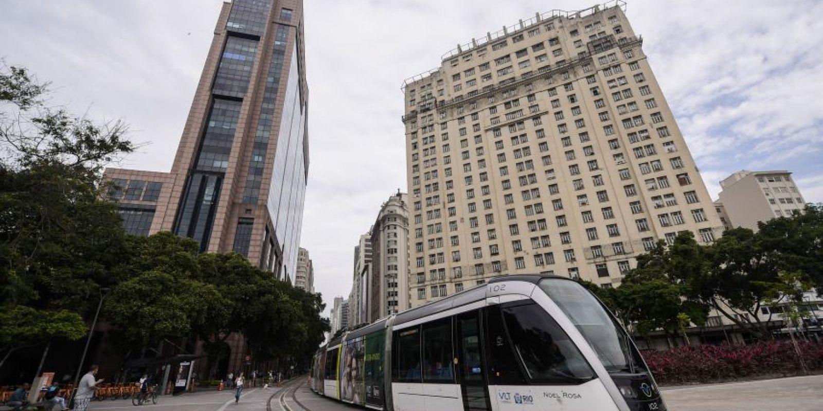 Tren ligero integra el centro. Foto:Bruna Prado/ Metro Rio