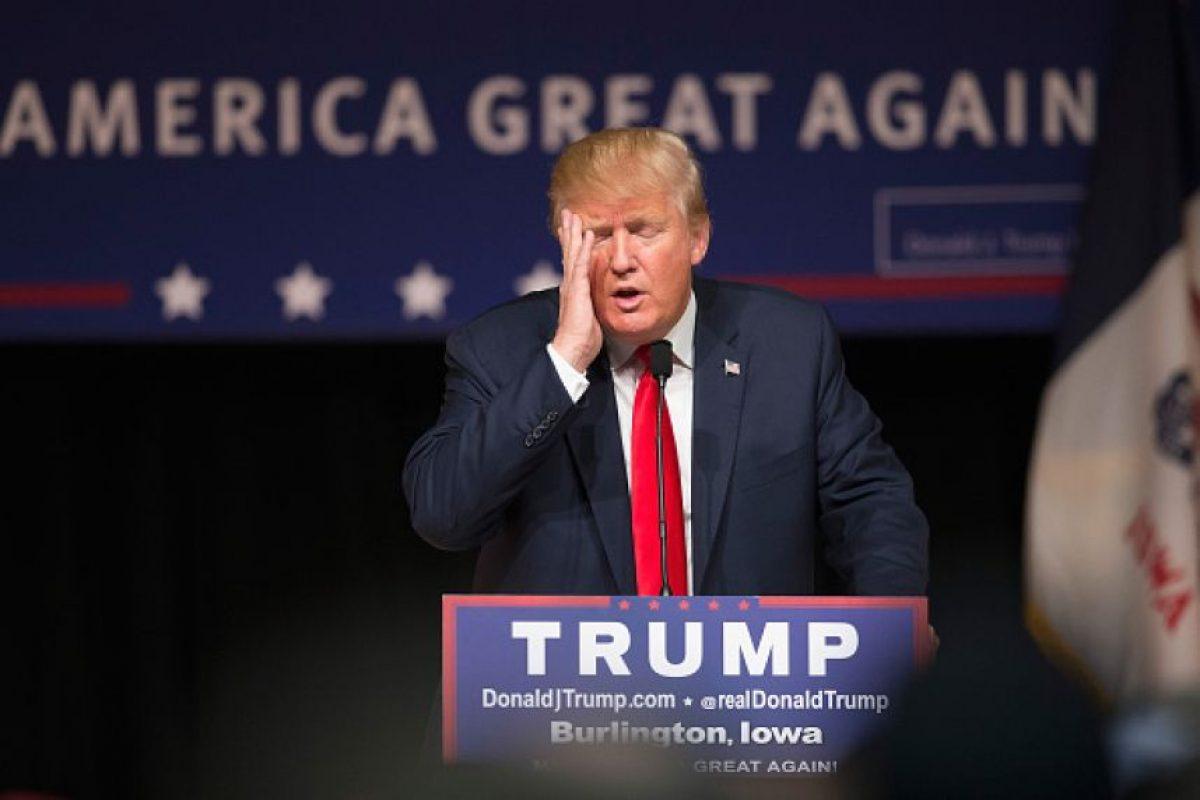 El candidato republicano se encuentra abajo de Hillary Clinton en las encuestas de preferencia Foto:Getty Images