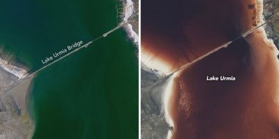 Un lago cambió de color en 12 semanas y esta es la explicación