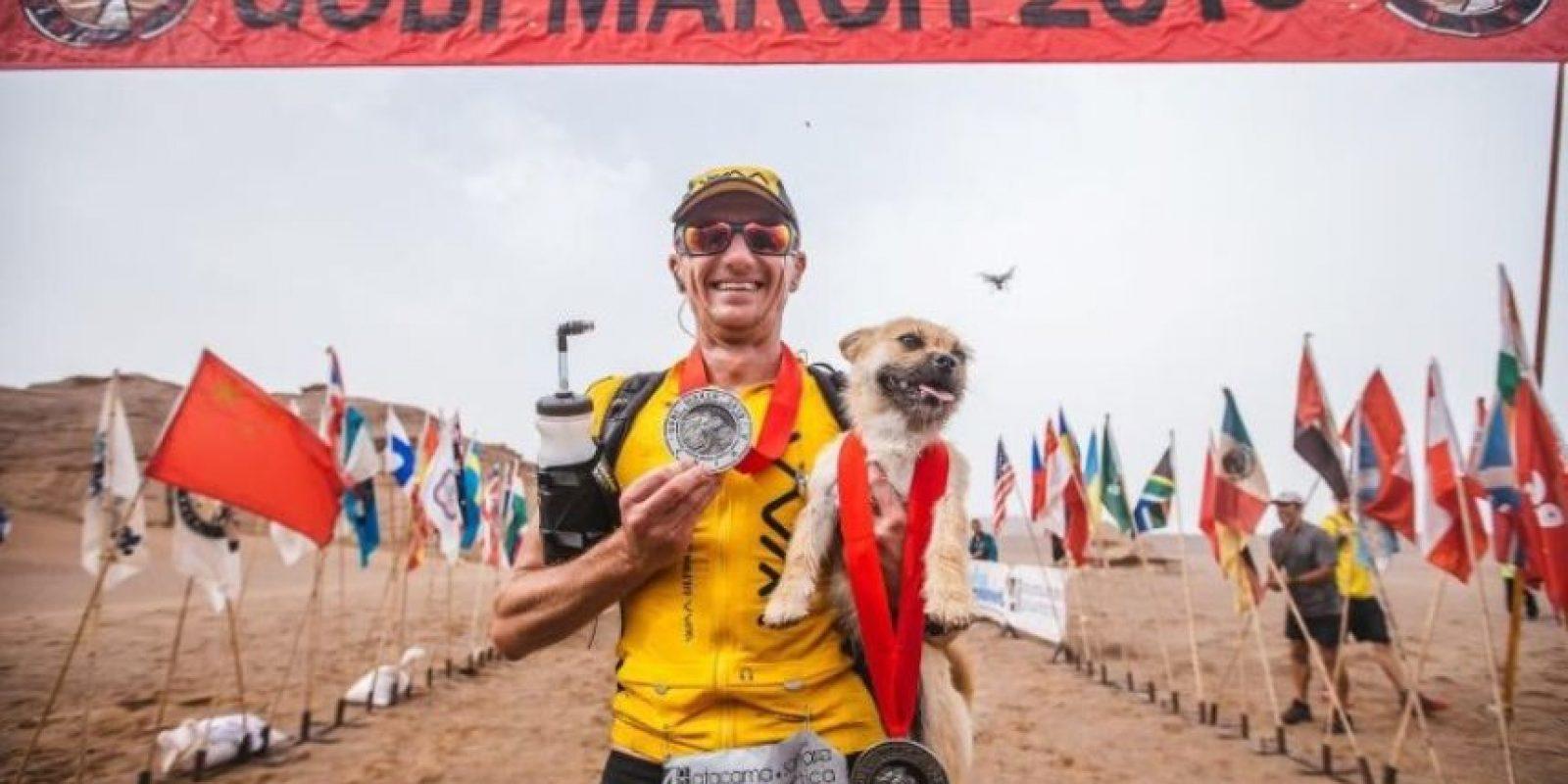 Terminaron juntos la carrera que duró siete días Foto:Crowdfunder.co.uk/bring-gobi-home