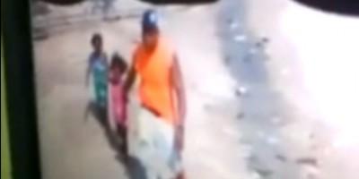 VIDEO: El momento en que un hombre rapta a niñas en Higüey
