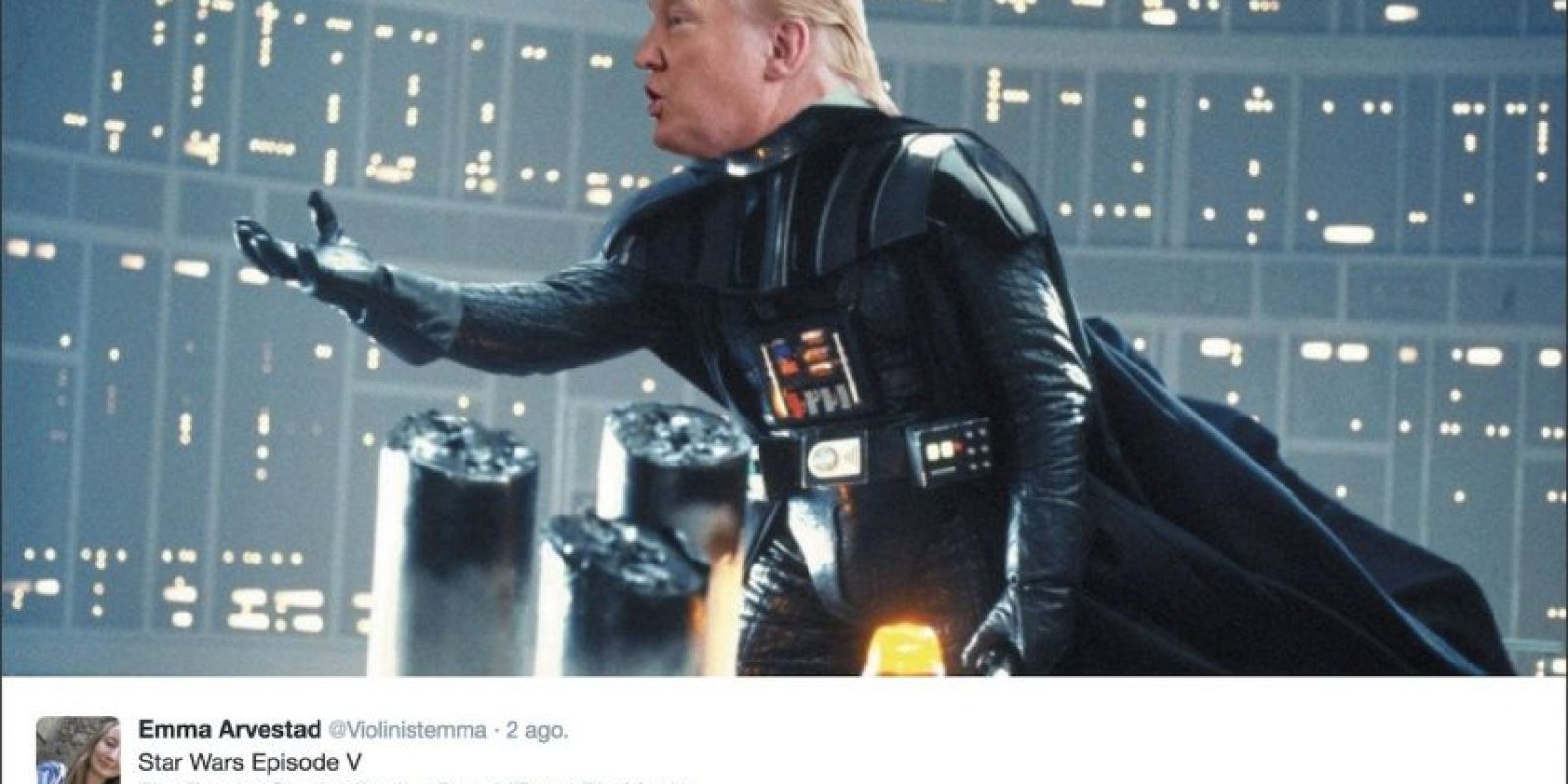 """The Empire Combs Back"" (El imperio se peina hacia atrás) Foto: Twitter.com"