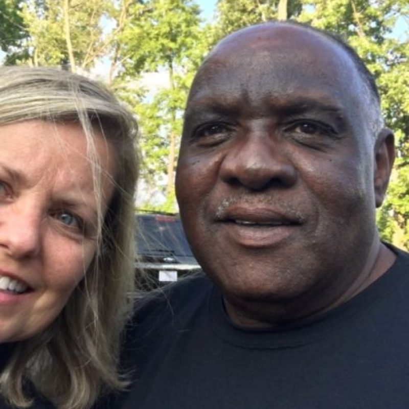 Ellos son Ellis Hill y su benefactora, Liz Willock Foto:GoFundMe