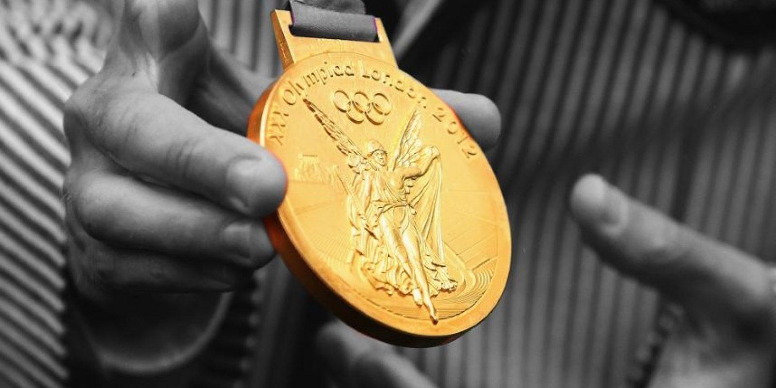 Esta es la medalla de oro para los primeros lugares de las diferentes competencias de los Juegos Olímpicos Río 2016. Foto: GETTY