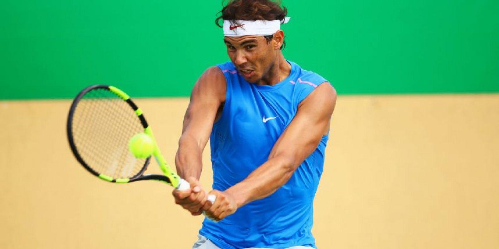 Rafael Nadal (tenis): El español no vive su mejor momento tenístico, pero está decidido a sumar una medalla y por eso jugará el singles, el dobles y el dobles mixto. Foto:Getty Images