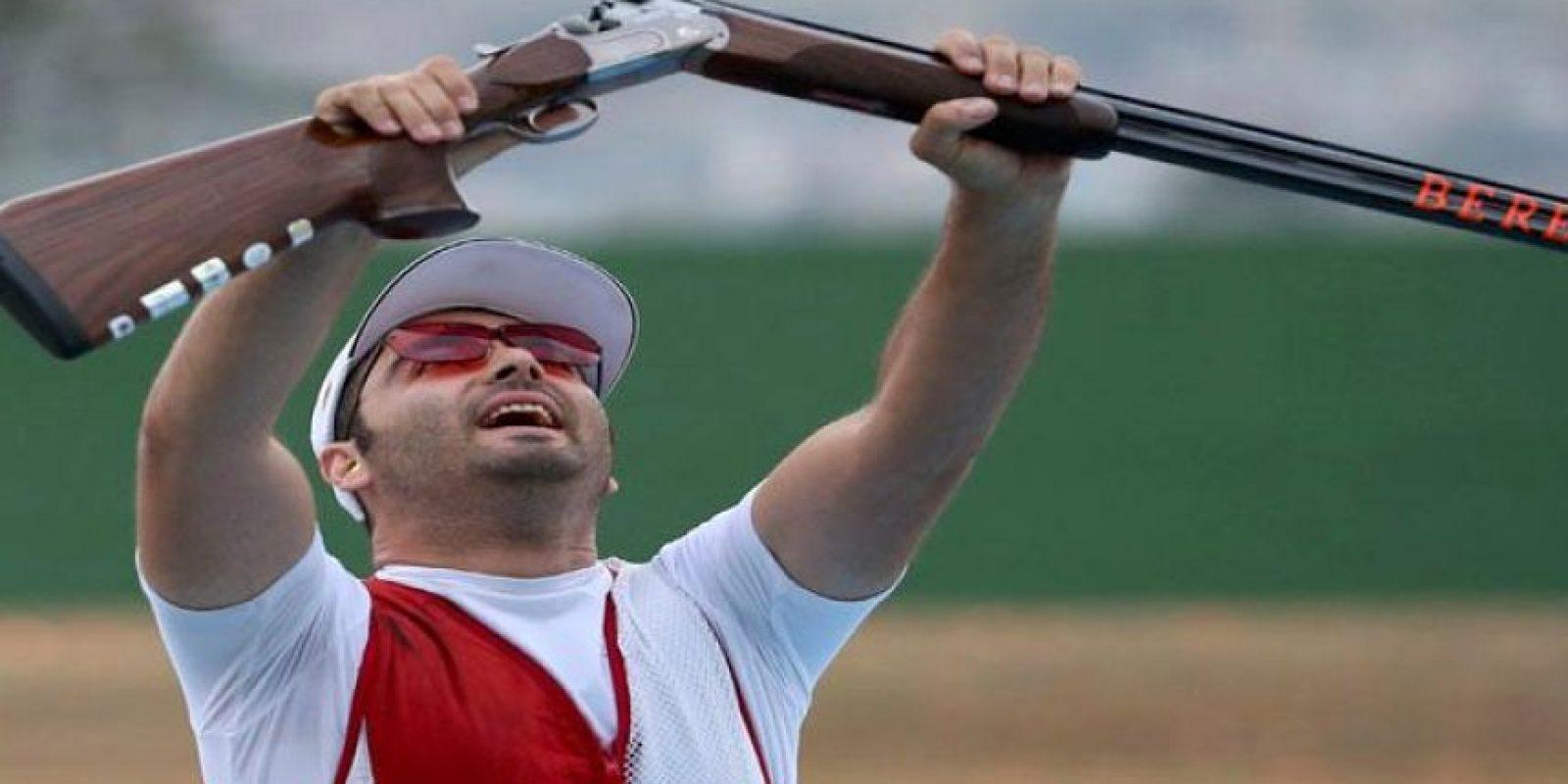 Josep Glasnovic le dio oro a Croacia en el tiro deportivo en la especialidad de fosa masculina. Foto:Getty Images