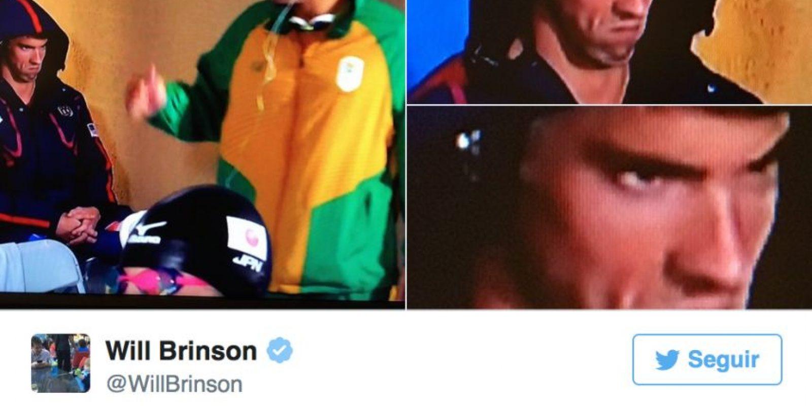 Los mejores memes por la cara de enfado de Michael Phelps Foto:Twitter