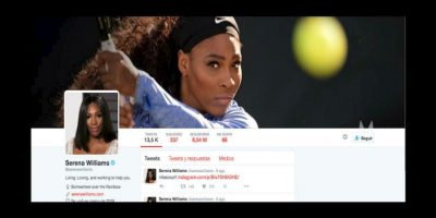 5. Serena Williams (@serenawilliams) – 6.54 millones Foto: Twitter