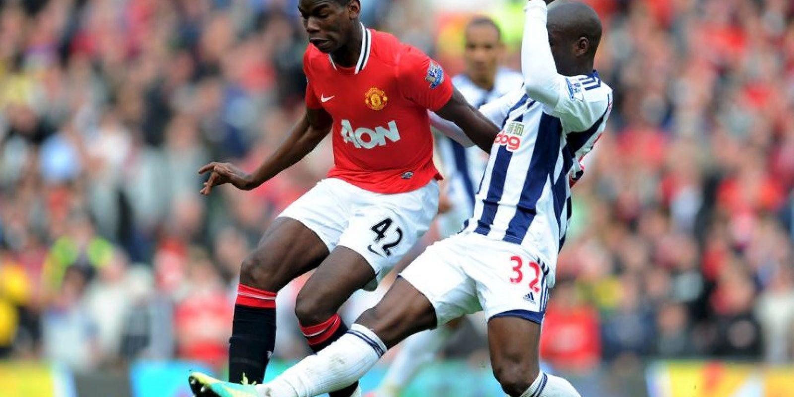 Paul Pogba debutó como profesional en Manchester United en 2011, cuando jugó 44 minutos ante Leeds United por la League Cup. Foto:Twitter