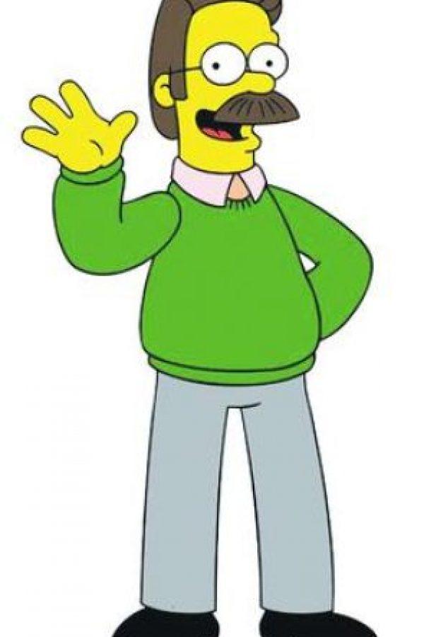 """Ned Flanders, personaje de """"The Simpsons"""". Nedward """"Ned"""" Flanders es un personaje ficticio de la serie de televisión de dibujos animados """"The Simpsons"""". Su episodio más famoso es el inolvidable """"Cuando Flanders fracasa"""", en el cual abre una tienda para personas zurdas Leftorium, inspirado en un caso real de una empresa dedicada para zurdos que no tuvo éxito. Foto:Fuente externa"""