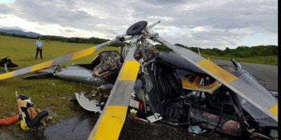 Helicóptero se precipita al suelo en aeropuerto el Higüero