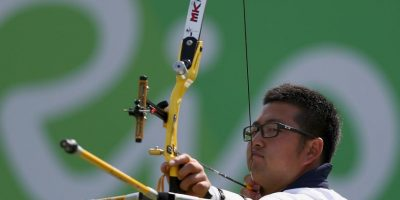 Woojin Kim. Logró 700 puntos con 72 flechas en tiro con arco Foto:Getty Images