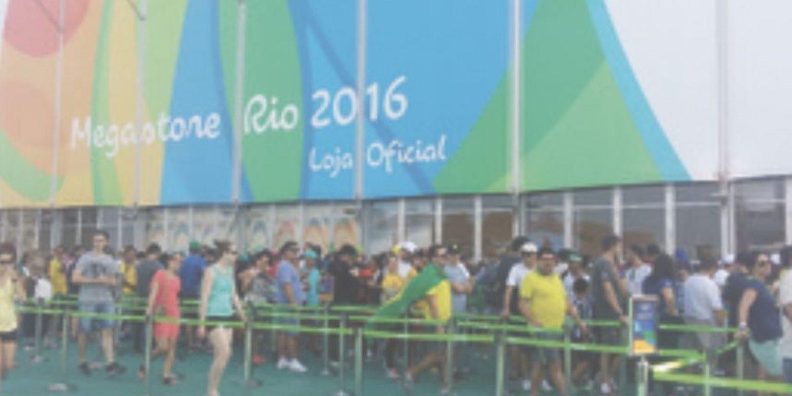 En el Parque Olímpico tiene que esperar hasta para comprar recuerdos Foto:Metro Río