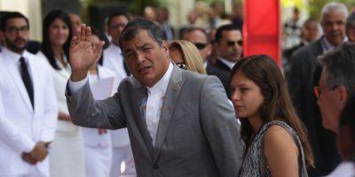 El presidente ecuatoriano Rafael Correa fue otros de los mandatarios que arribaron desde sudamérica Foto:Roberto Guzmán