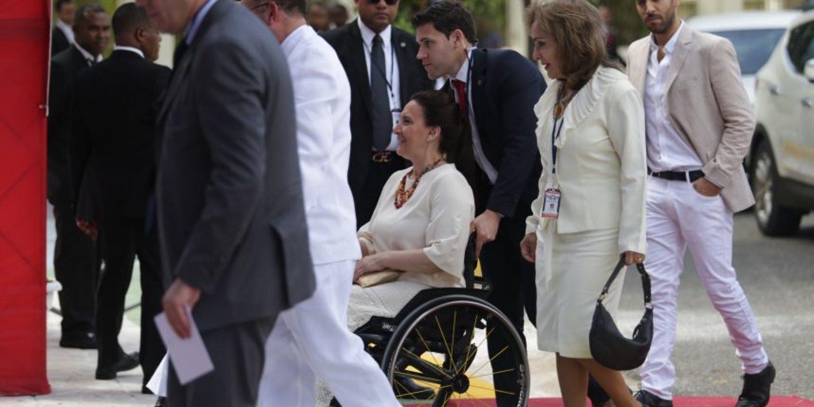 la videpresidente panameña Gabriela Michetti, en silla de ruedas Foto:Roberto Guzmán