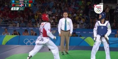 Luis Pie pierde su combate de semifinales de taekwondo