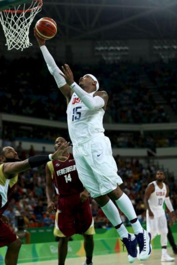 """Si el """"Dream Team"""" sube a lo más alto del podio en Río 2016, """"Melo"""" sería el primer basquetbolista que gana el oro en tres citas olímpicas Foto:Getty Images"""