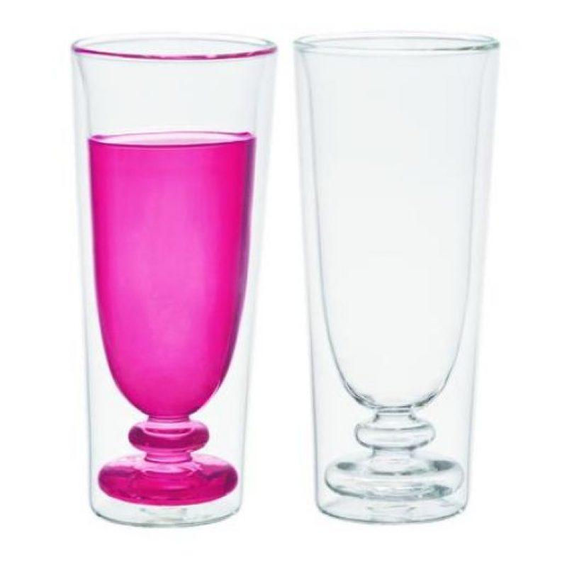 Flute Glass. Set de copas para champaña en cristal transparente con relieve interior. Foto:Fuente externa