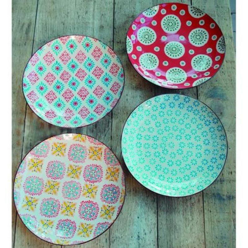 Bohemian Plates (Set de 4). Platos para ensalada o postres. Foto:Fuente externa