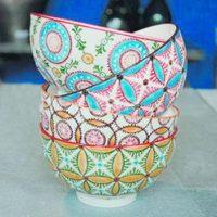 """""""Sunshine bowls"""" (Set de 4). Coloridos, ideales para combinar con platos lisos para un estilo bohemio. Foto:Fuente externa"""