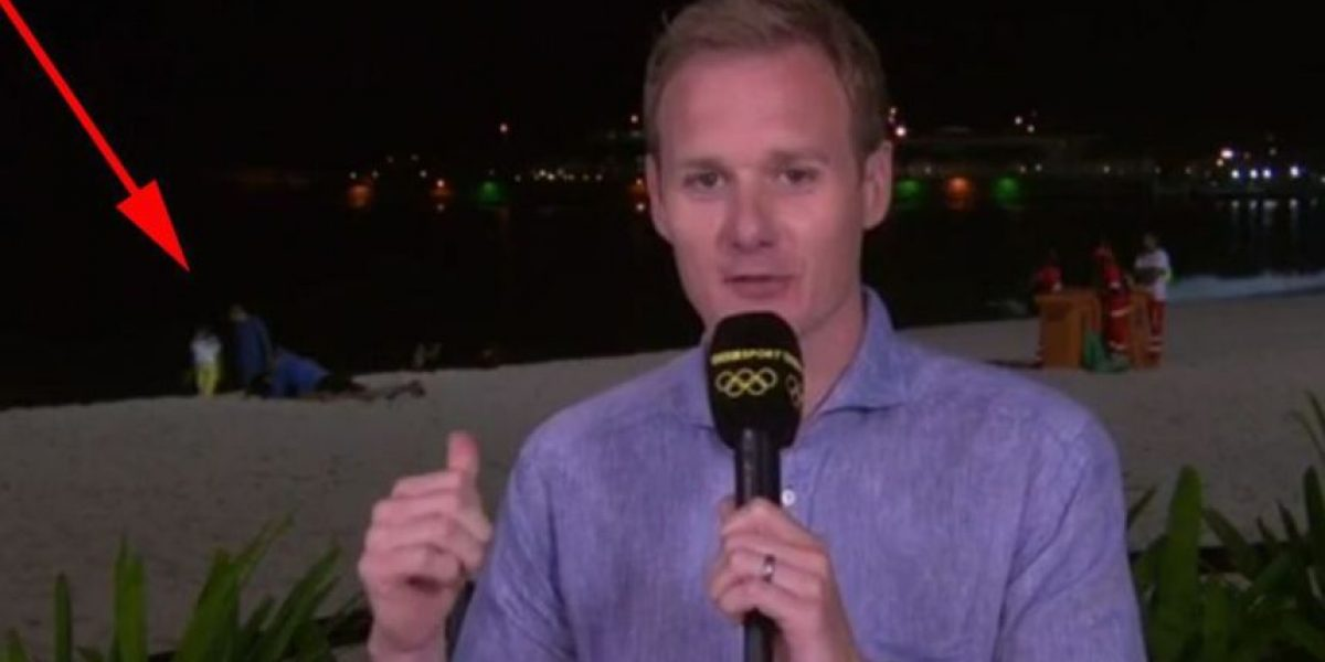 "Río 2016: Reportero vive momento incómodo con pareja ""cariñosa"""