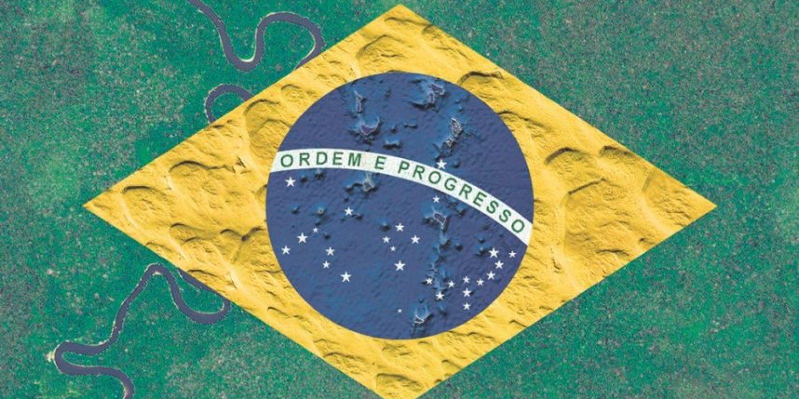 Bandera de Brasil – Fotografía satelital: Indonesia, Arabia Saudita y la Groenlandia oceánica