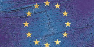 Bandera de la Unión Europea-Fotografía satelital: Oceano Atlántico y Australia