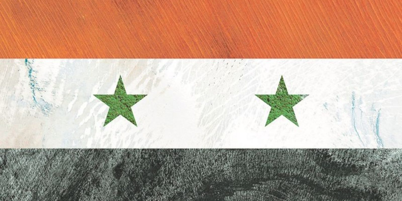 Bandera de Siria – Fotografía satelital: Australia, Groenlandia, Polinesia Francesa e Islandia
