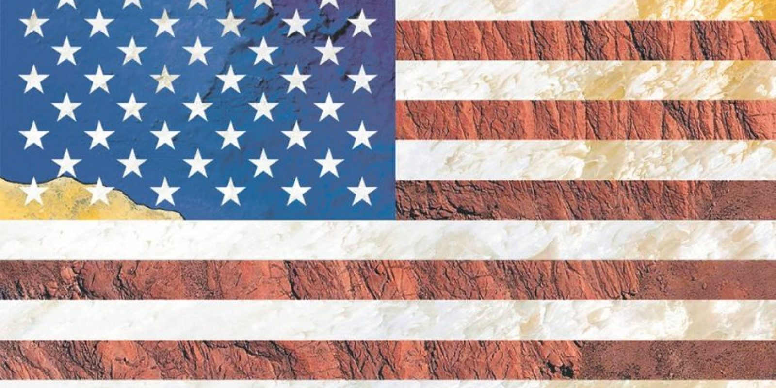 Bandera de Estados Unidos – Fotografía satelital: Bolivia, Chad y el mar Mediterráneo