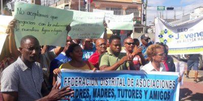 Profesores de Haina mantienen paro exigiendo pago de salarios