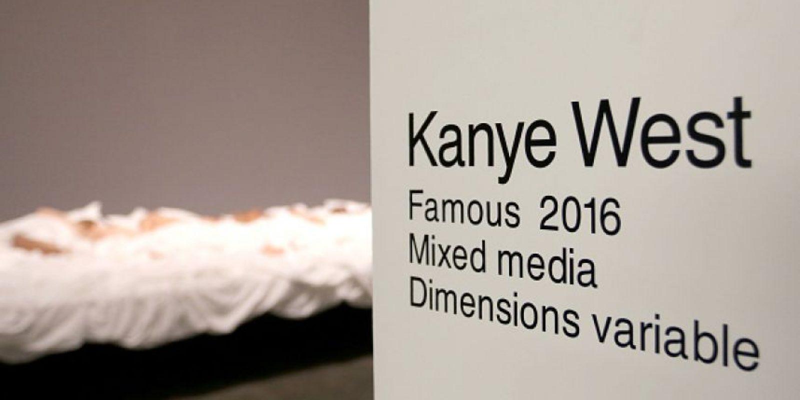 "Kanye West inauguró una exposición sobre su video ""Famous"" Foto:Getty Images"
