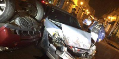 Cuatro personas heridas en accidente del vehículo Fernando Villalona