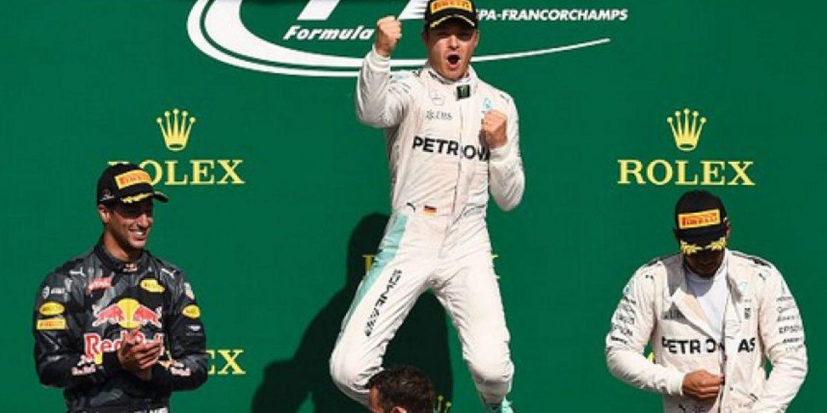 Rosberg ganó Gran Premio Bélgica; Hamilton terminó 3ro