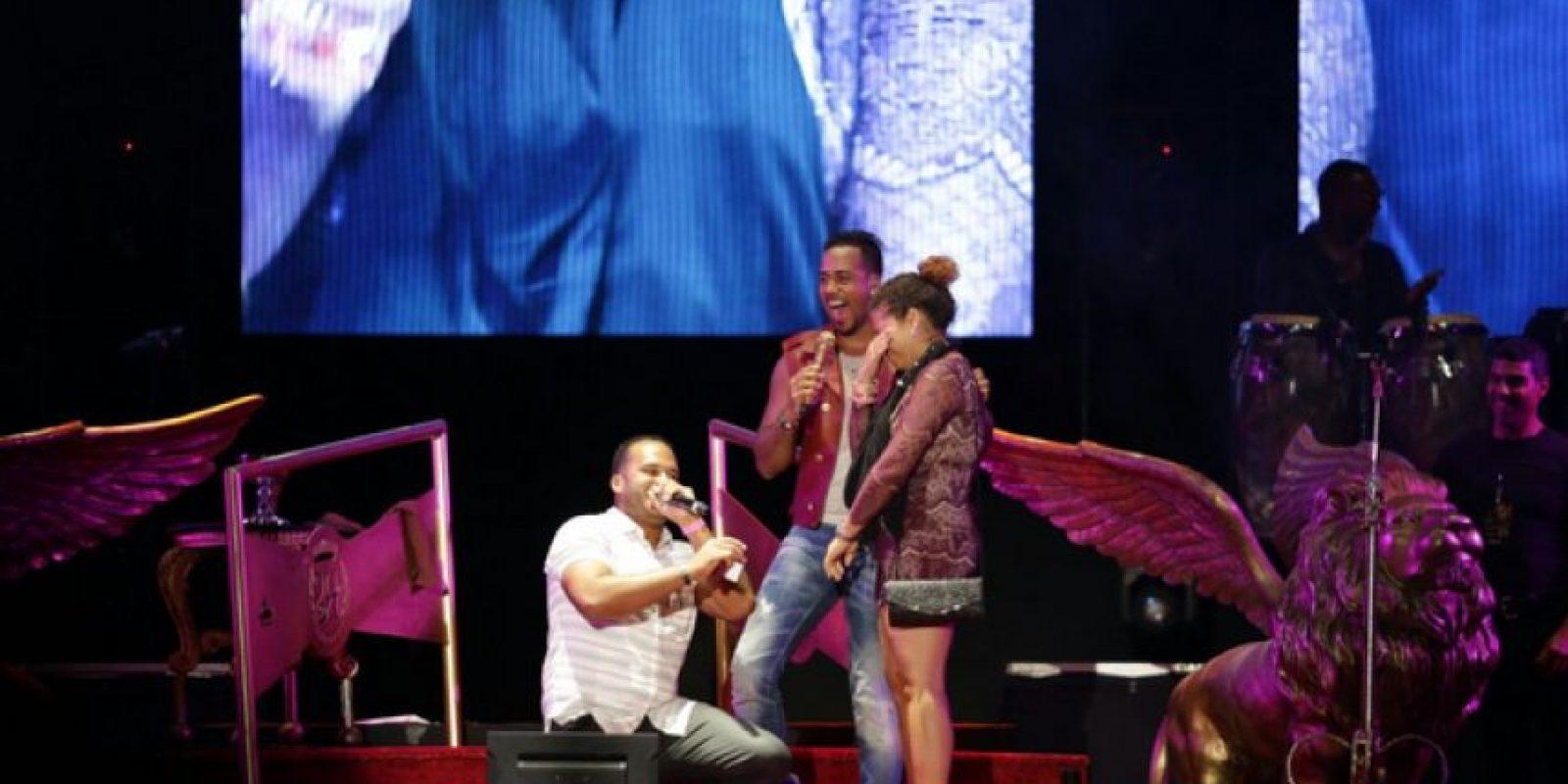 Romeo Santos durante su concierto en Punta Cana Foto:Fuente Externa