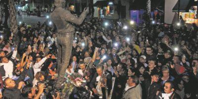 Plaza Garibaldi de la Ciudad de México, donde se encuentra su estatua. Foto:Fuente externa