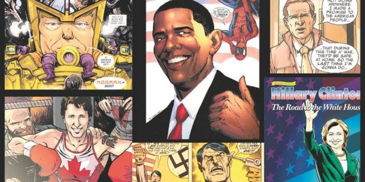 Políticos asaltan a los cómics