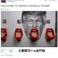 """Bienvenido a México, Donald Trump"" Foto:Twitter.com"