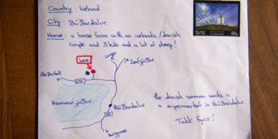 El mapa hecho a mano que guió a un cartero en Islandia