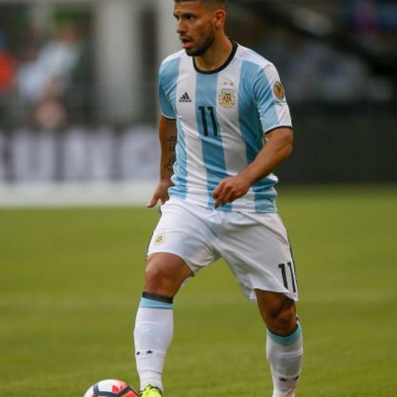 Sergio Agüero es baja para Argentina por una molestia muscular Foto:Getty Images