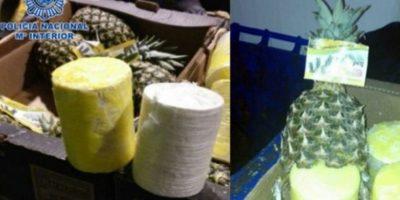 En distintos países de Europa han incautado cargamentos de frutas importadas, rellenas con distintos narcoticos. Entre ellas piñas, plátanos y zanahorias. Foto:Policía de Costa Rica