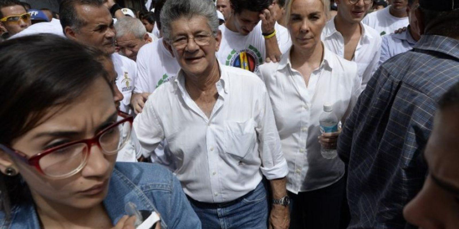También marchó Henry Ramos Allup, presidente de la Asamblea Nacional Foto:AFP